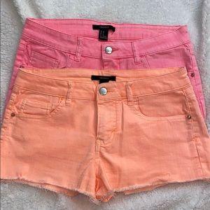 Bundle Forever 21 jean shorts